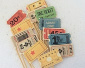 Cupcake Flags/Circus Carnival Theme/ Vintage Circus Tickets/Circus Birthday/Appetizer Picks/Big Top