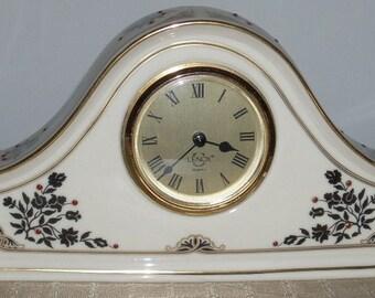 Lenox USA Jewels Mantle Shelf Clock