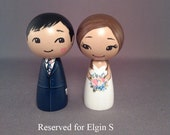 Reserved for Elgin S Kiss on Cheek Asian Wedding Cake Toppers