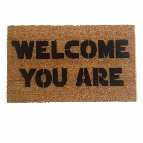 Welcome you are™ mat -star wars outdoor geek nerd buzzfeed yoda  wedding housewarming hostess gift