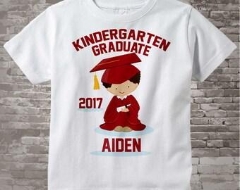 Personalized Kindergarten Graduate Shirt Kindergarten Graduation Shirt Child's Back To School Shirt 05122017a