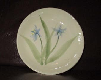 "Real Blue & White Flowers Handmade Ceramic wall hanging   5""                                              194"