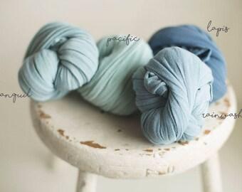 Newborn Stretch Wrap  - Stretch Knit Wrap - newborn wrap -Luminous Wrap - Baby Wrap - Photography Prop - Sheer Stretch - BLUE