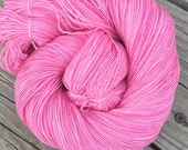 Damsel in Distress Hand Dyed Sock Yarn Hand Painted sockyarn 463 yards bubblegum pink fingering superwash merino nylon Treasured Toes swm