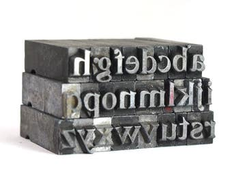 THE ALPHABET - 18pt Metal Letterpress