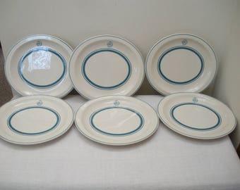 Vintage Set of 6 Restaurant Ware Plates Platters - Restaurantware