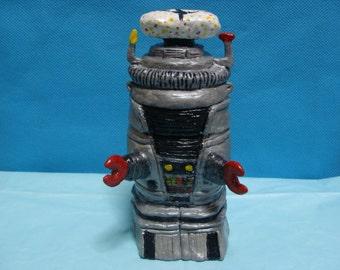 Robot Keepsake Holder jar(functional-art sculpture)*Made To Order*