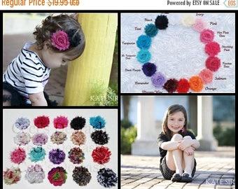 30% OFF SPRING SALE Set of 10 Flower Hair Clips, U Choose Color, Newborn Headband, Infant Headband, Baby Headband, Flower Girl, Baby Shower