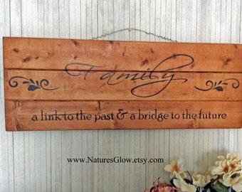 Family Sign, Farmhouse Decor, Family Wall Decor, Rustic Plank Sign, Family Plank Sign, Wooden Planks, A Link to the Past, Family Home Decor