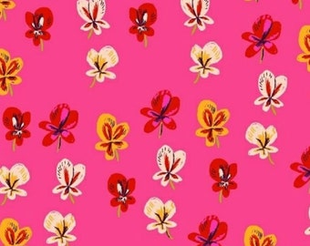 Windham Fabrics - Sleeping Porch Collection - COTTON LAWN Sleeping Pansies in Pink