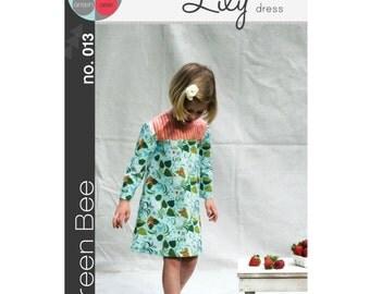 Green Bee Patterns - Lily Dress Pattern (paper) no. 13