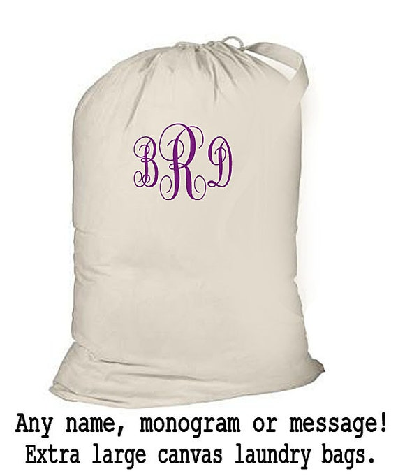 Monogrammed Laundry Bag, College Laundry Bag, Laundry Tote Bag, Personalized Drawstring Laundry Tote, Duffle Bag, College Bag, Monogrammed