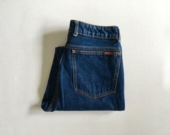 Vintage Women's 80's Sasson Jeans, High Waisted, Blue, Denim (XS)