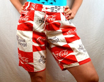 Vintage 70s 1970s Coca Cola Coke Beach Advertising Shorts