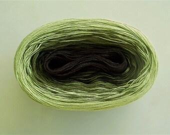 PERIDOT II  --mega--  Color Changing Cotton yarn  865 yards/180 gr  Fingering Weight
