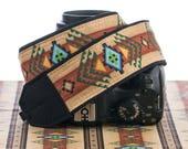 dSLR Camera Strap, Southwestern, Tribal, Mens camera strap, Camera Neck Strap,  Canon or Nikon strap,SLR, Native American Inspired, 002