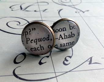 Book Cuff Links, Moby Dick, Literary Gift for Men, Sailing Cufflinks, Dad Gift