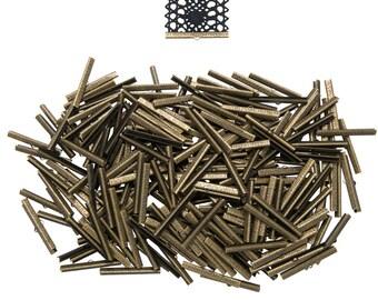 500pcs.  50mm  (2 inch) Antique Bronze Ribbon Clamp End Crimps - Artisan Series