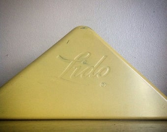 Holiday Sale. Vintage Metal LIDO Corner Signs for Display.