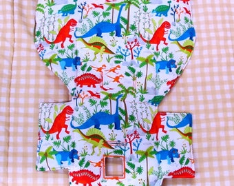cotton high chair replacement pad, Evenflo high chair cushion, chair cover, baby accessory, baby and child,kids feeding chair pad, dinosaurs