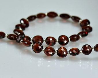 Garnet Coin Beads AA-AAA Micro Faceted Gemstone Beads