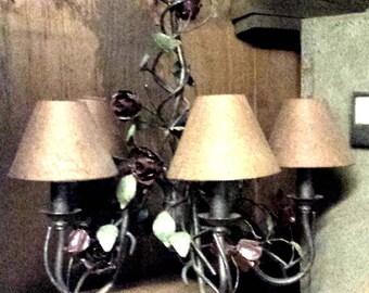 Goth chandelier, Dark Red Roses Chandelier