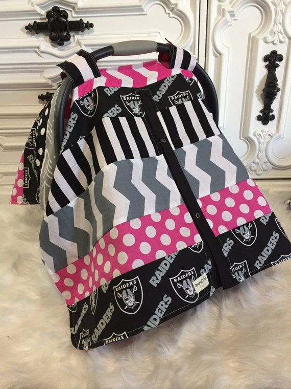 raiders car seat cover ooak raiders oakland carseat. Black Bedroom Furniture Sets. Home Design Ideas
