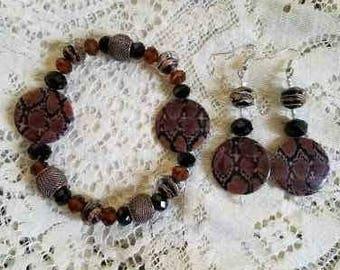 Snake Charmer Bracelet and Earring Set