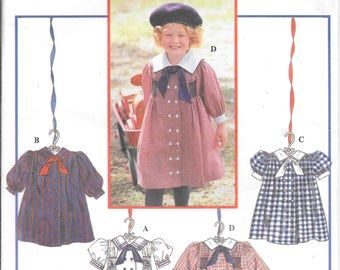 "Vintage Simplicity 9701 Oliver Goodin Child""s Dress Pattern Wax Transfer Included 2,3,4"