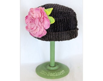 vintage chenille hat - one of a kind