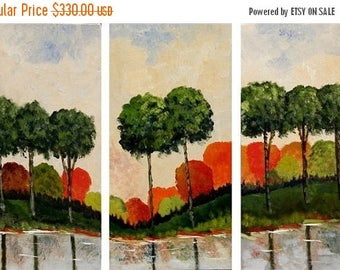 The Colors Of Nature  - Original Modern Landscape Acrylic Paintings