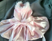 Dogs, Cats, Pets PINK Dress with faux fur