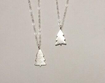 Tree Silhouette Necklace, Evergreen Necklace, Pine Tree Necklace, Tree Necklace, Silver Tree, Silver Pine Tree, Tree Art, Tree Jewelry