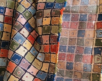 Great Upholstery Pillow Fabric Multi-color Square Print On Sale
