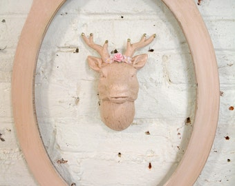 Painted Cottage Chic Shabby Farmhouse Faux Taxidermy