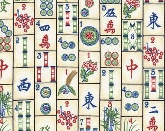 Timeless Treasures - Mahjong Fabric by the yard C4816-MAHJO