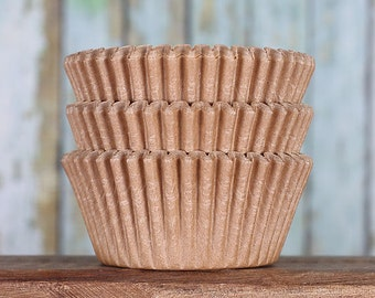 Unbleached Cupcake Liners, Unbleached Cupcake Wrappers, Unbleached Baking Cups, Natural Cupcake Liners, Tan Cupcake Liners, Basic Liners