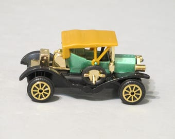 Vintage Miniature Cars with Rolling Wheels Model T and Peerless in Original Box / Antique Classic Auto Replica Tin Lizzie Ford Motor Company