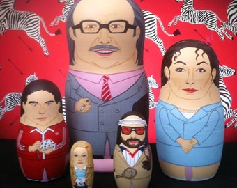 The Royal Tenenbaums Matryoshka Dolls