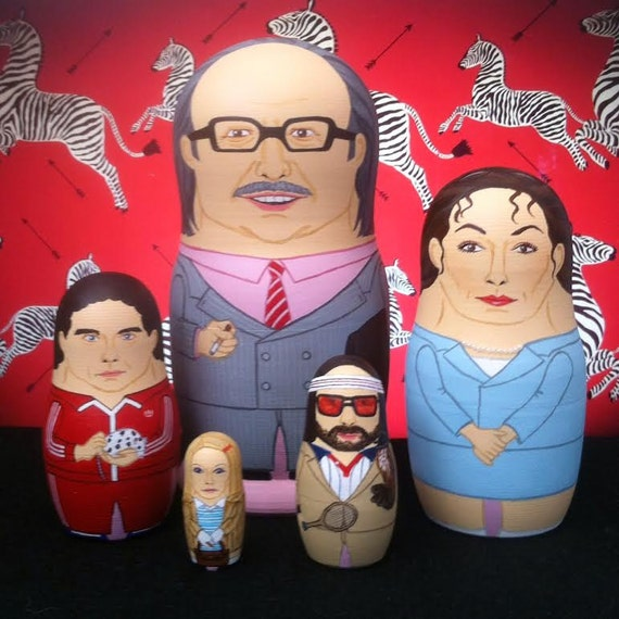 The Royal Tenenbaums Matryoshka Dolls
