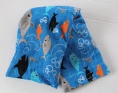 Hot/Cold Rice or Flax Seed Bag - Playful Sharks in the Ocean