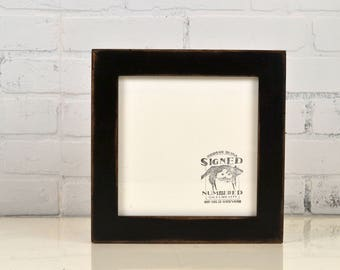 8x8 Square Picture Frame in 1.5 Standard Style with Super Vintage Black Finish - IN STOCK Same Day Shipping - 8 x 8 Photo Frame