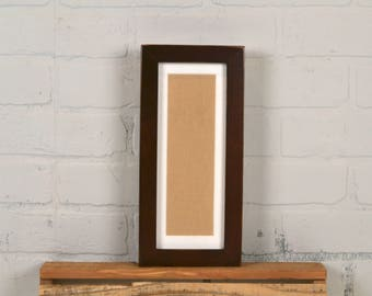 """4x10"""" Picture Frame for Photo Booth Strip in 1x1 Flat Style with Vintage Dark Wood Tone Finish - IN STOCK - Same Day Shipping - Photo Booth"""