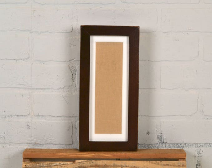 "4x10"" Picture Frame for Photo Booth Strip in 1x1 Flat Style with Vintage Dark Wood Tone Finish - IN STOCK - Same Day Shipping - Photo Booth"