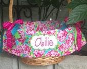 Easter Basket Liners / 45 Fabrics multiple styles / Personalized Basket Liner / Monogrammed Custom Liner  / Girls Basket Liner / Boys Liner