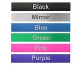 Anodized Aluminum Bracelet Strip - 7 x 1 inch - choose from black, mirror, blue, green, pink, purple - perfect for making cuff bracelets