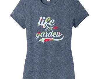 Life Began In A Garden Women's Fitted T-Shirt