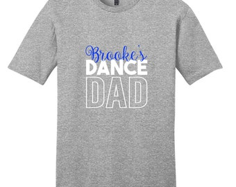 Custom Name Dance Dad - Personalized Sports T-Shirt