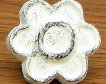 """FREE SHIPPING 12 Shabby Knobs Drawer Pulls Cast Iron White Distressed Cottage Chic 1-1/2"""""""