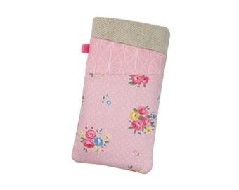 Moto E4 Plus Case, OnePlus 5, Galaxy S8 Plus Case, LG G6, Pink Galaxy Phone Case for Girls, Moto G5, Samsung S7 Edge, Fabric Phone Sleeve